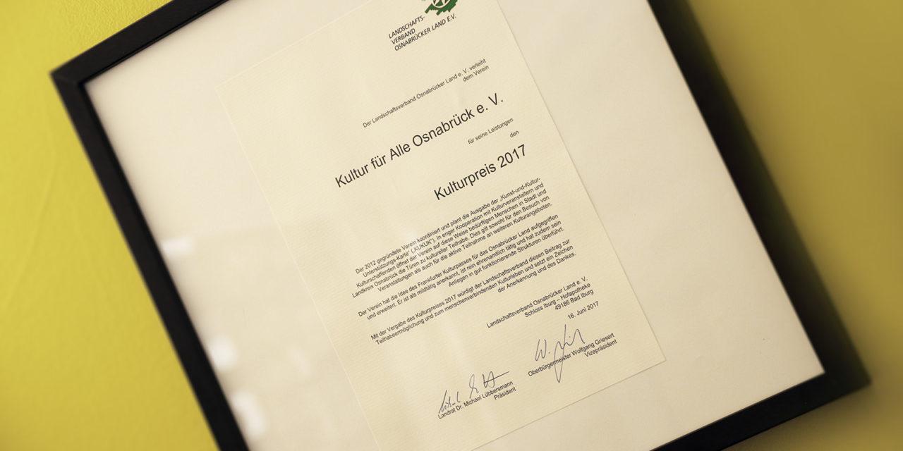 WIR SIND KULTURPREISTRÄGER 2017