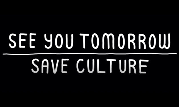 See you tomorrow – save culture